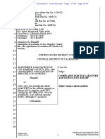 Complaint for Declaratory Injunctive Relief, apartment Ass'n of Los Angeles County, Inc. v. City of Los Angeles, No. 2:20-cv-05193 (C.D. Cal. June 11, 2020)