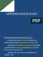 Calificación moral de un acto