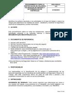 PRO-SIG-08  Procedimiento para la identificacion de pelgros, valoracion de riesgos y determinacion de controles