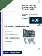 Freyssinet Bearings, Jacking and TW 2020.1
