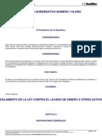 3. ACUERDO_GUBERNATIVO_118-2002 REGLAMENTO DE LA LEY CONTRA EL LAVADO DE DINERO U OTROS ACTIVOS