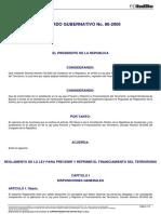 4. ACUERDO_GUBERNATIVO_86-2006 REGLAMENTO DE LA LEY PARA PREVENIR Y PEPRIMIR EL FINANCIAMIENTO DEL TERRORISMO