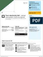 British Gas Bill Sample
