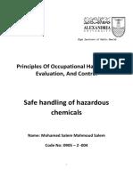 Safe handling of hazardous chemicals