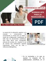 CONFERENCIA VIRTUAL_ NORMAS APA