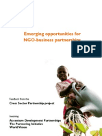Emerging Opportunities for NGO-Business Partnerships