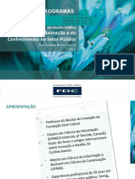 PRODUTO 1. FRONTEIRAS EM GESTÃO PÚBLICA - GESTÃO DA INFORMAÇÃO E CONHECIMENTO