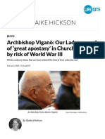Archbishop - Viganò_ Our Lady warned of