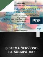 III FARMACIA-SEMANA 9-FARMACOS PARASIMPATICOMIMETICOS Y PARASIMPATICOLITICOS O ANTICOLINERGICOS-convertido