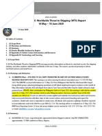 U.S. Navy Office of Naval Intelligence Worldwide Threat to Shipping (WTS) for 14 May - 10 June 2020