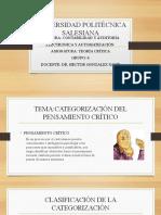 CATEGORIZACIÓN DEL PENSAMIENTO CRÍTICO