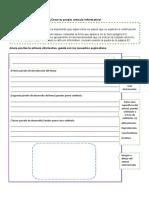 Producción textual artículo informativo
