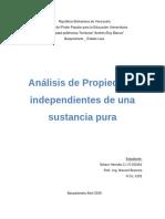 2Analisis de propiedades independientes de una sustancia pura