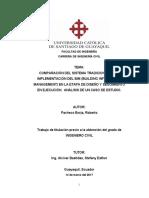 COMPARACIÓN DEL SISTEMA TRADICIONAL VS LA BIM
