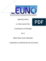 CUESTIONARIO LEY USO DE LA FUERZA