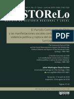 ElPartidoComunistaDeChileYLasManifestacionesSociales contra la dictadura