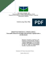 DESENVOLVIMENTO E A PESSOA IDOSA uma analise discursica da politica internacional e regional sobre o envelhecimento