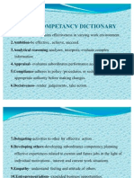 Generic Competancy Dictionary