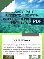 SEMINARIO TALER PROCESOS PRODUCTIVOS Y  MEDIO AMBIENTE