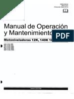 Manual de Operación y Mantenimiento Motoniveladora 140K