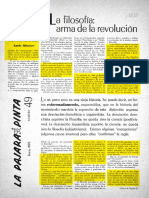 1970 Althusser La Filosofía, Arma de La Revolución