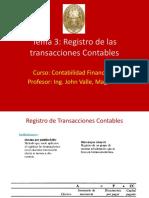 T3. Registro de transacciones contables