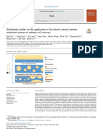 Mechanism studies on the application of the mixed cationic-anionic surfactant systems to enhance oil recovery