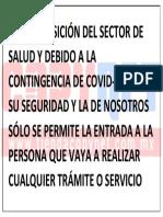 POR DISPOSICIÓN DEL SECTOR DE SALUD Y DEBIDO A LA CONTINGENCIA DE COVID.pdf
