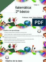 Clase de Matemática 3  2º básico