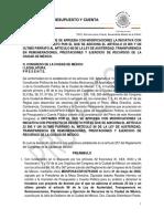 Proyecto de Dictamen que reforma la Ley Austeridad de la Ciudad de México