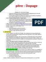 Chapitre 6 & 7 Dopage et Lutte (1)