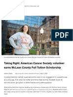 taking flight  american cancer society volunteer earns mclean county full tuition scholarship