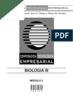 COD. 0972 - BIOLOGIA III