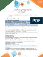 Guia de actividades y Rúbrica de evaluación Paso 4 Personal Branding