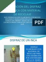 diapositiva de elaboracion de disfraz reciclado