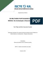 OS MILITARES PORTUGUESES NA GUINÉ-BISSAU