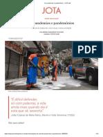 De pandemias e pandemônios - JOTA Info
