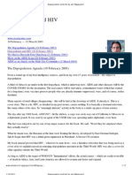 Depopulation and HIV by Jon Rappoport