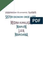 Sistem Ekonomi Orde Lama
