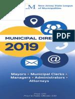 NJ League of Municipalities Directory 2019