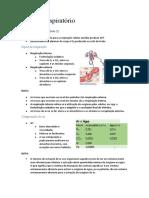 Resumos do sistema respiratorio