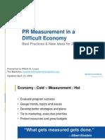 Best Practices & New Ideas in PR Measurement