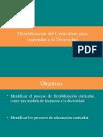 Flexibilización del Curriculum para responder a la Diversidad 2014pptx