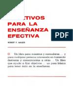 Mager, Robert F. - Objetivos Para La Ensenanza Efectiva (1)