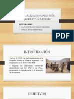 FORMALIZACION PEQUEÑO PRODUCTOR MINERO.pptx