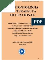 DEONTONTOLÓGIA DEL TERAPEUTA OCUPACIONAL
