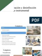 Esterilización y desinfección de instrumental