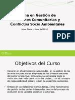 Programa en Gestión de Relaciones Comunitarias y Conflictos Socio Ambientales