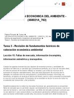 358021A_762_ Tarea 3 - Revisión de fundamentos teóricos de valoración económica ambiental_ Lección 19. Fallas de mercado, información incompleta, información asimétrica y monopolios_