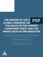 Interim Minority Report on the Origins of the COVID 19 Global Pandemic Including the Roles of the CCP and WHO 6.15.20